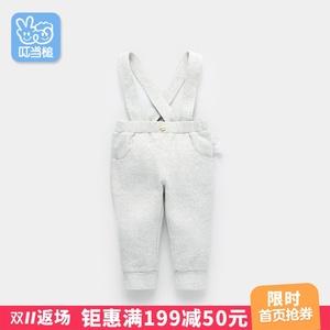 叮当槌新0一1-2-3岁婴儿童装男童宝宝背带裤子春秋幼儿春装连体裤
