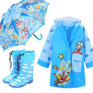 奥特曼儿童雨衣裤套装雨披带书包位男孩学生幼儿园中小童宝宝雨鞋