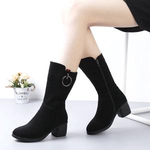 冬季老北京布鞋加绒保暖长筒靴大码女靴大号女鞋43码女棉靴高筒靴