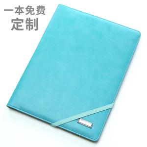 A4多功能文件夾皮質資料冊經理夾簽約本商務銷講夾銷售顧問手冊