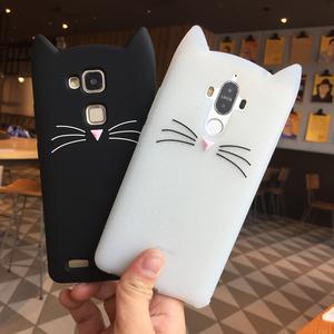 可爱猫咪华为mate9手机壳卡通全包潮mate7/8保护套软硅胶挂绳女款