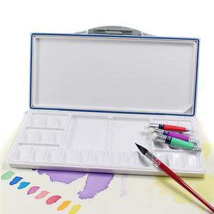 水彩調色盒/密封保濕水彩顏料調色盤18格24色33格便攜翻蓋顏料盒