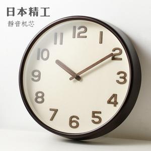 北歐簡約風格掛鐘精工機芯餐廳客廳臥室靜音鐘表時尚石英鐘表