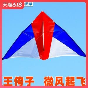 王侉子濰坊風箏大型三角傘布碳桿成人微風易飛精細做工微風風箏