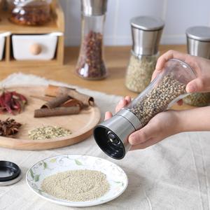 黑胡椒研磨器海盐花椒粒手动磨粉粉现磨碾磨瓶碎撒盐碾碎罐家用