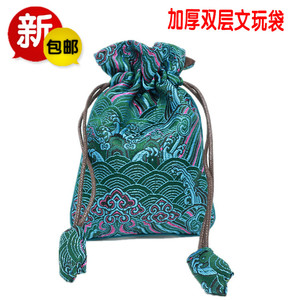丝绸锦布袋珠宝首饰玉器收纳束口袋绒布麻布小袋子锦囊钱包装布袋