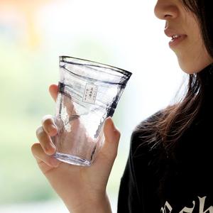 壹见喜 日本進口月夜野工房手工水杯暈染水墨玻璃杯酒杯冷茶杯