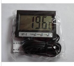 温度计上海精创可测室内外温度 ST-2 汽车车用家用温度计带时钟