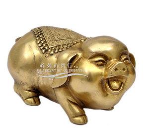 開光銅豬諸事如意諸福如意吉祥物擺件 金豬合貴