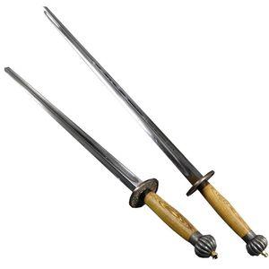 龙泉剑宝剑忠心刀剑四棱实心双锏武术九节鞭十八般兵器法器未开刃