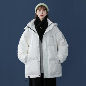 【買一送一】羽絨服2020年新款女冬厚白鴨絨潮牌中長款白色外套