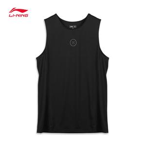 李宁韦德速干背心训练夏季新款冰丝宽松无袖健身房跑步短袖篮球服