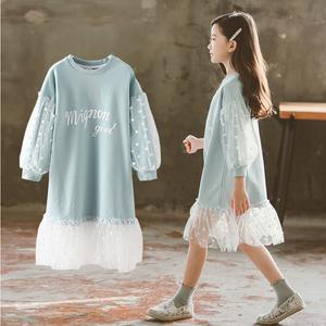 女童裙子大童女装春秋装5六6七7十10小女孩衣服洋气连衣裙12-15岁