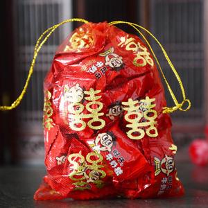 結婚用品婚慶糖袋創意喜糖袋子喜糖盒中國風喜糖袋糖果回禮紗袋
