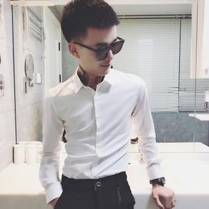 LES小碼男裝矮小個子長袖襯衫男S號XS碼純色商務襯衣正裝寸衫修身