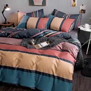 北歐風床上用品四件套全棉純棉100輕奢被套三件套ins被子床單被罩