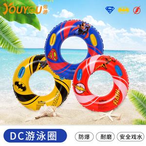 佑游泳圈成人男女加厚把手加大救生圈兒童充氣腋下圈超人泳圈裝備