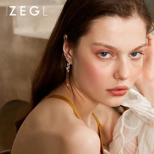 ZEGL925银流苏耳环女耳线长款气质韩国适合圆脸的耳坠显瘦耳饰品