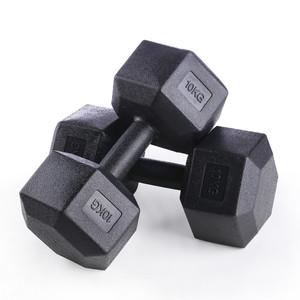 六角固定哑铃足重5kg10公斤20千克男士健身器材家用女士亚玲学生