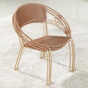 藤椅 休闲家用小藤椅子靠背椅成人老人室内阳台户外桌椅儿童凳子