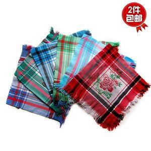 优质中年妇女农村下地干活方巾表演棉布?#26041;?#22235;方妈妈纯棉围巾包邮