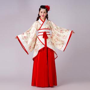 新款古装服装唐朝汉服仙女民族舞台演出套装摄影写真服厂家批发