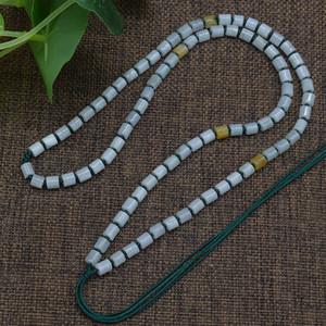 手工编织高级全珠子项链 和田玉翡翠玉器挂绳吊坠玉石链子批 发