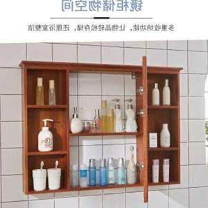 化妝柜子掛墻柜子壁掛儲物柜衛生間鏡子帶牙刷置物架小的廁所壁掛