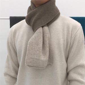 東大門韓國代購男女精致雙色拼接秋冬針織圍脖保暖CP情侶圍巾1009