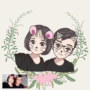 新版小头q版微信卡通头像漫画人物定制设计动漫情侣二次元手绘