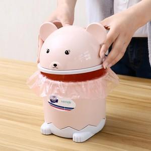 小号桌面上迷你垃圾桶可爱家用创意无盖餐桌床头茶几收纳韩式车载