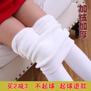 抗起球春秋冬儿童连裤袜女童打底裤袜白色舞蹈袜宝宝丝袜加绒加厚