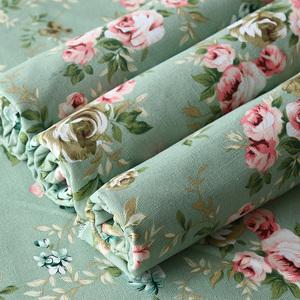 帆布布料面料清倉處理條紋純棉沙發麻布棉麻田園碎花加厚老粗布