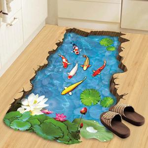 3d立体墙贴画地板贴纸儿童房间客厅卧室防水创意装饰品海报纸墙纸