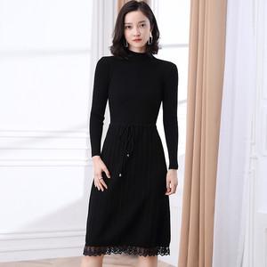 蔓诺蒂专柜正品女装2019秋冬装新款羊毛衫妮弗曼毛衣针织衫天丝