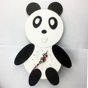 手自制挂钟科技小制作手工发明时钟材料熊猫挂钟手工学生劳技作业