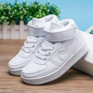 童装女童白色运动鞋高帮加绒加厚冬季2019新款中大童儿童男童棉鞋