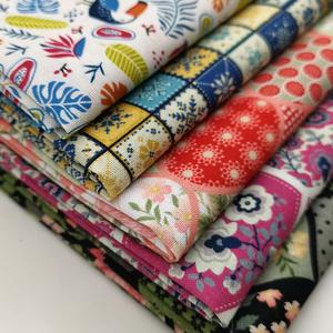手工diy拼布棉布刺繡居家布藝面料植物花卉家紡家飾棉質工藝布料