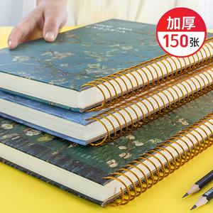 大號加厚復古筆記本子活頁課堂線圈本簡約大學生文藝精致學生文具