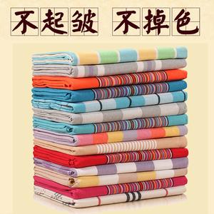 老粗布床單單件條紋雙人單人被單加厚加密被套大炕單1.5m1.8m2.0m