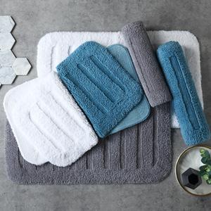 加厚酒店浴室吸水地墊全棉洗澡淋浴房門口防滑踩腳墊衛生間地毯小