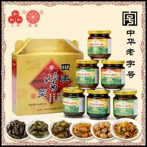 三和四美醬菜揚州特產下飯菜瓶裝菜醬瓜腌乳黃瓜咸菜醬菜禮盒整箱