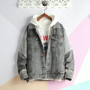 13青少年14岁春秋装15夹克16男孩子18岁初中学生韩版潮流牛仔外套