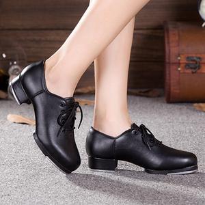 成人踢踏舞鞋女款踢踏鞋黑色软底少儿童踢踏舞鞋女童踢踏鞋
