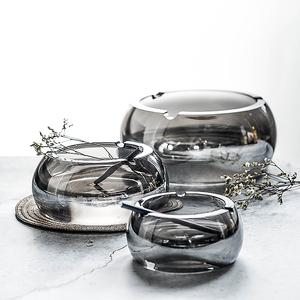 创意北欧水晶玻璃烟灰缸家用大小号个性客厅办公室定制超特大烟碟