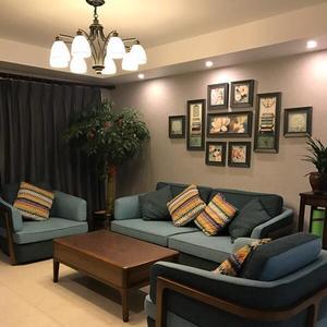 美式裝飾畫客廳沙發背景墻歐式田園鄉村餐廳墻畫臥室壁畫組合掛畫