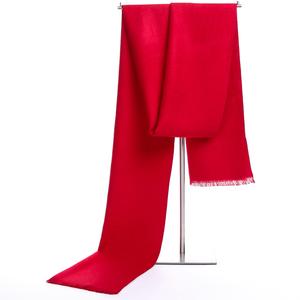 红围巾年会活动刺绣定制男女士本命年大红色印logo礼品围巾中国红