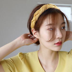 韩国束发绑发带甜美森女系网红发箍chic风宽边个性欧美头?#23458;?#39280;女