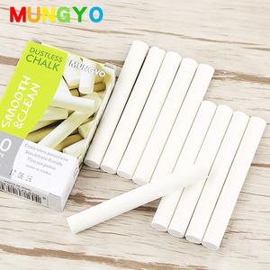 韩国MUNGYO 进口白色无尘粉笔 10支装 盟友老师儿童无尘粉笔