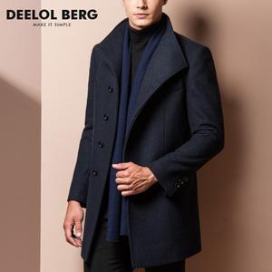冬裝男士毛呢大衣中長款英倫羊毛風衣冬季呢子外套中青年修身加厚圖片